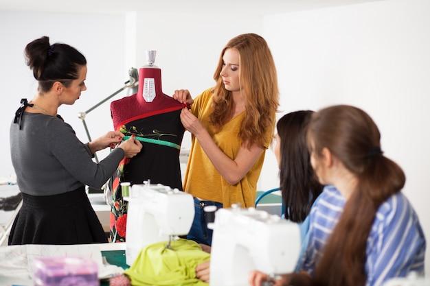 Women in a sewing workshop