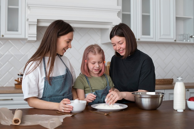Women spending time together with their daughter