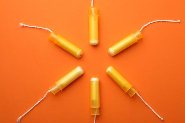 오렌지, 평면도에 여성 탐폰