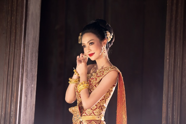 Women in thailand traditional costume