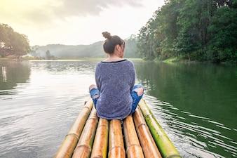 Women traveling by boat