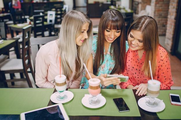 Women watching a mobile