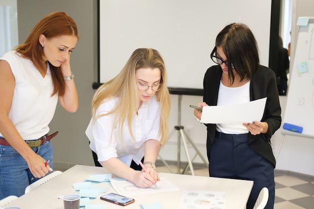 女性はチームで働くチームビルディング