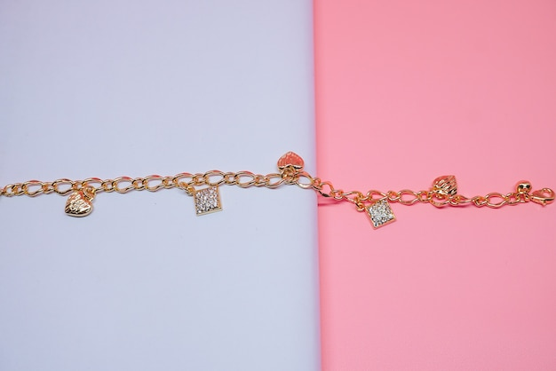 Womens bracelet with ring and heart embellishment