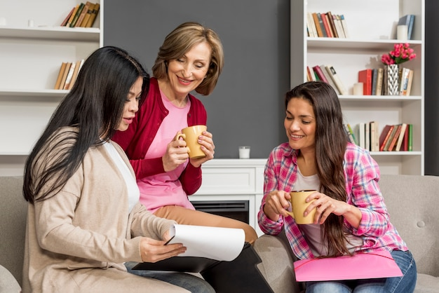 Womens meeting for coffee