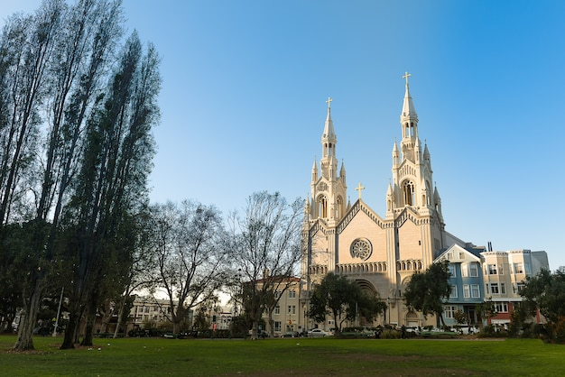 Wonderful architecture of saints peter and paul church san francisco