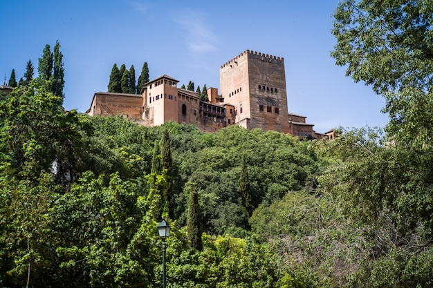 The wonderful complex of alhambra in granada, andalusia, spain