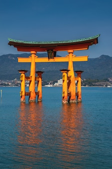 The wonderful iconic itsukushima shrine in  miyajiima, japan