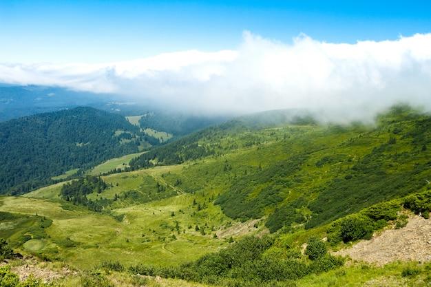 Wonderful landscape of ukrainian carpathian mountains.