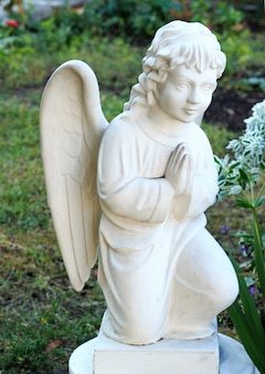 Wonderful sculpture of a prayer angel.
