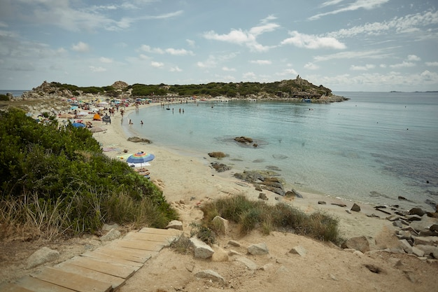 사르데냐 남부의 푼타 몰렌티스(punta molentis) 자연만의 멋진 전망