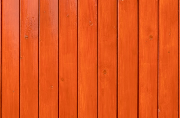 Wood background. orange varnished boards.