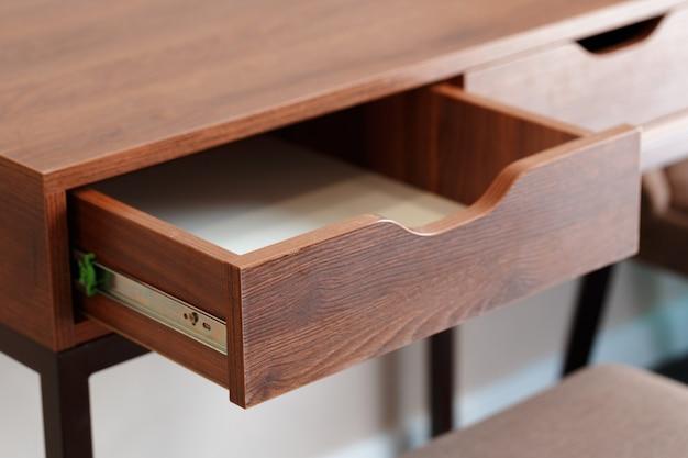 Wood bedside table. modern designer