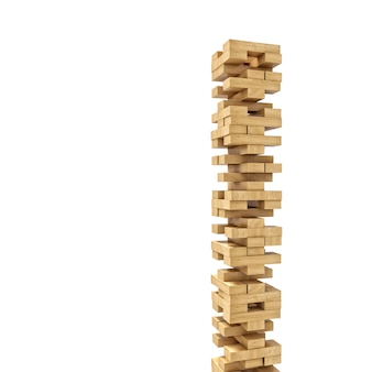 Wood blocks tower toy