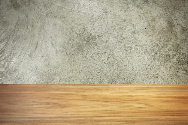 The wood and cement texture image material for background.