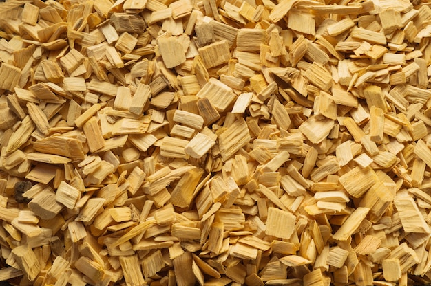 Wood chips texture, wooden background