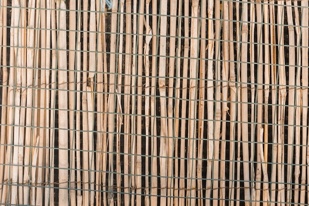 Wood fence texture in close up