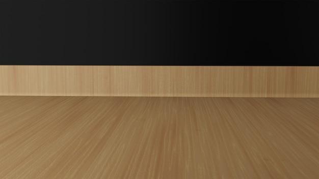 背景として木の床と壁