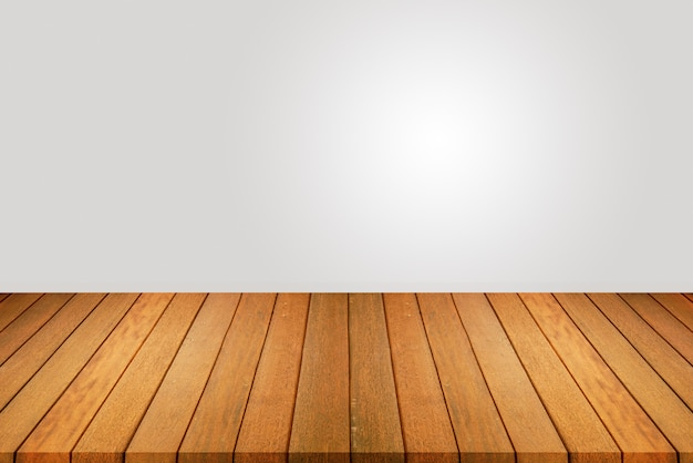 Wood floor and white wall, empty room for background. big empty room in grange style with wooden floor