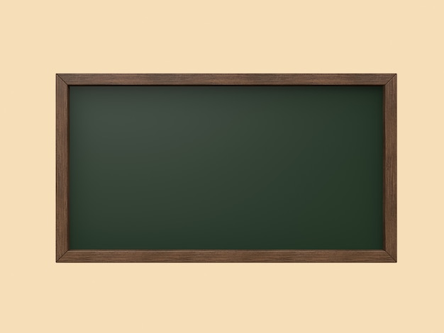 Wood frame black board,green board 3d rendering