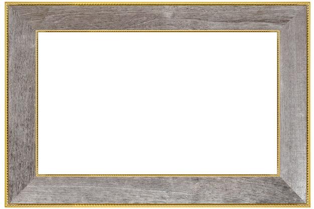 Wood frame  on white.vintage concept.