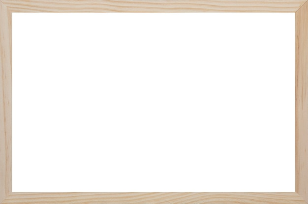 Wood frame with empty white space