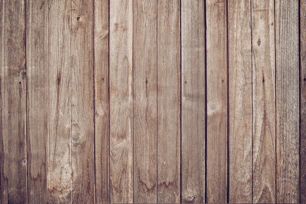 Предпосылка текстуры деревянной панели. взгляд сверху выдержанного винтажного деревянного с трещинами. коричневая деревенская грубая текстура древесины и узор для фона.
