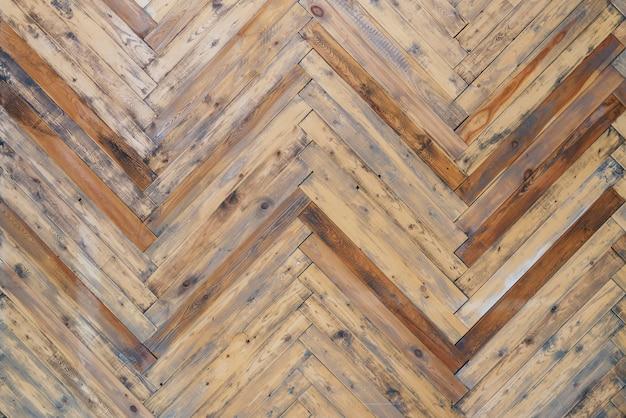 木製パネルの床パターン、古い壁のテクスチャの背景。