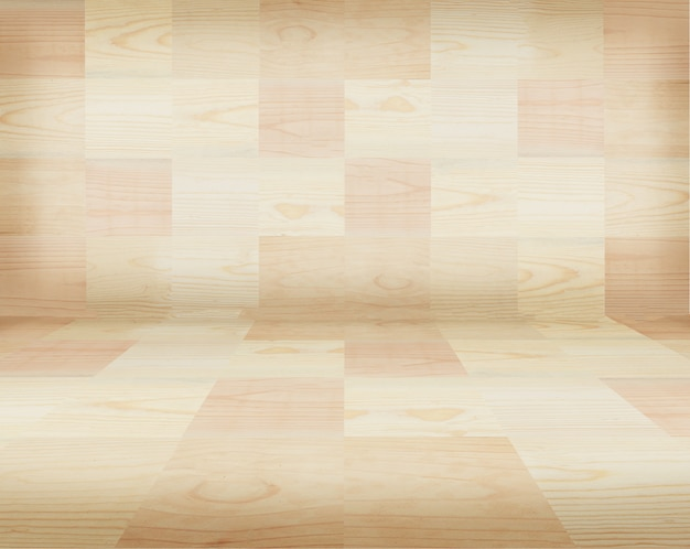 Wood pattern wall and floor