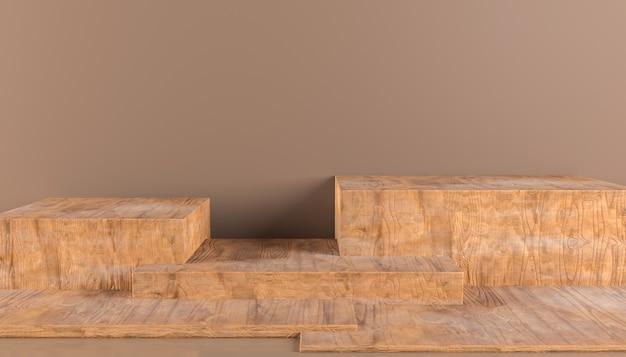 Деревянный постамент для дисплея роскошная деревянная подставка для продукта пустой круглый деревянный подиум