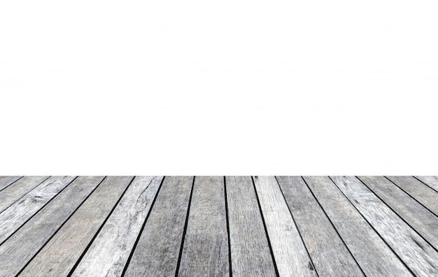 Wood plank gray white background