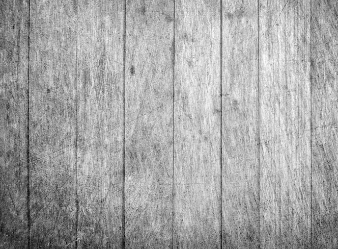 Wood plank texture background in black and white