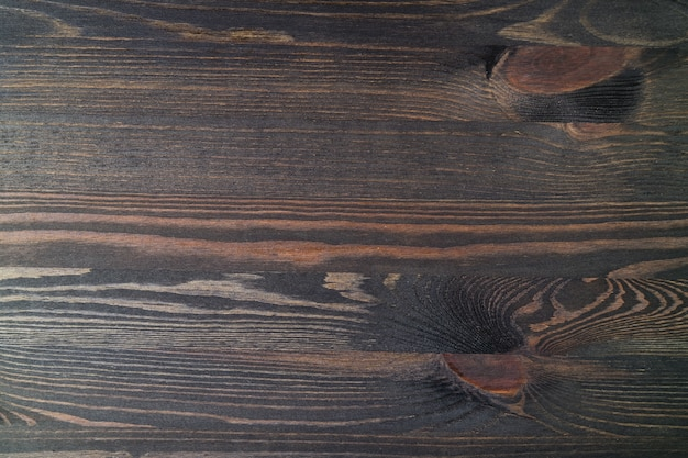 Wood plank with beautiful pattern, top view of table surface for background