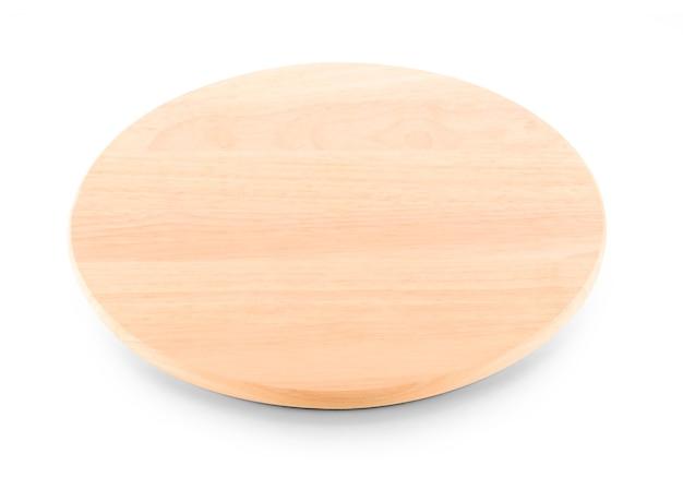 白い背景で隔離の木製プレート。