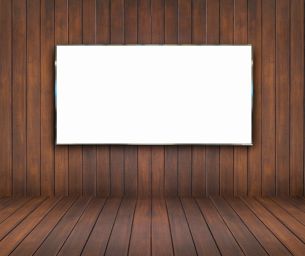 빌 보드와 나무 방과 벽 배경