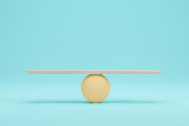Wood scales on light blue background. 3d render. 3d illustration.