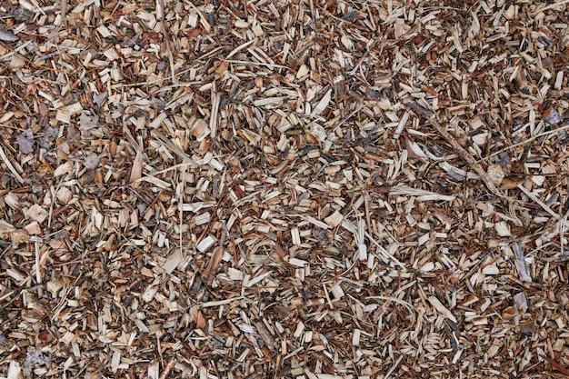 Макрос деревянной стружки, крупным планом деревянные щепки.