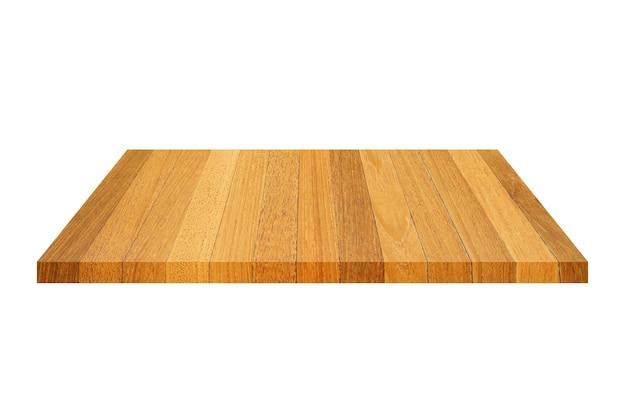分離された白い上に分離された木製の棚