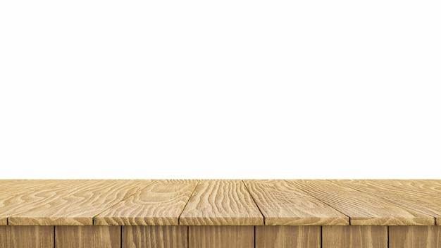 Деревянная столешница, изолированные на белом фоне