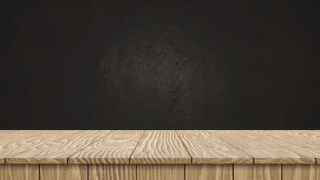 Деревянная столешница на темной текстуре