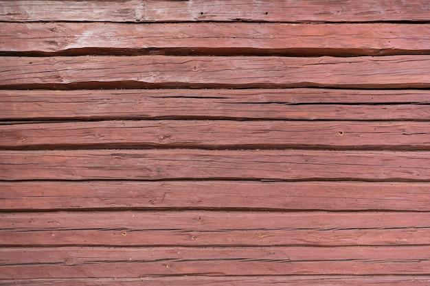 木の質感の背景、赤茶色のテラコッタ色の木の板高品質の写真