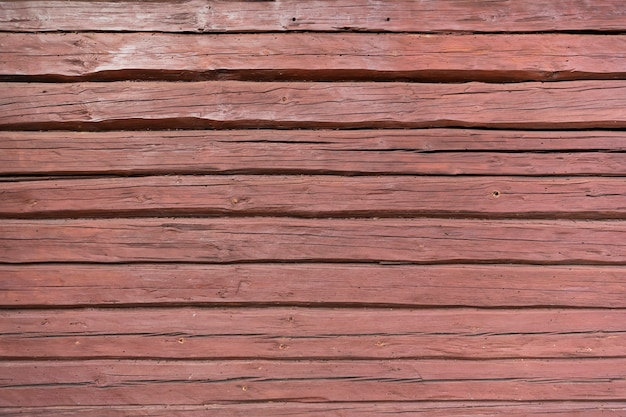 Wood texture background, wood planks in red-brown terracotta color high quality photo
