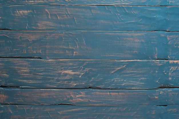 木の質感の背景、木の板。青色