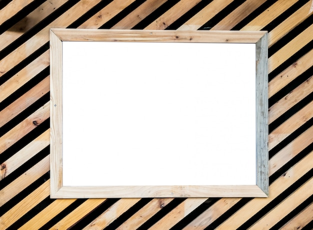Wood texture oblique decorate and picture frame