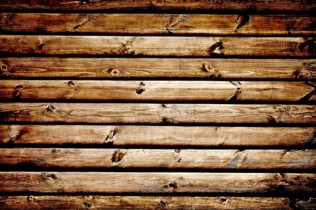 木目調の壁。背景の古いボードパネル