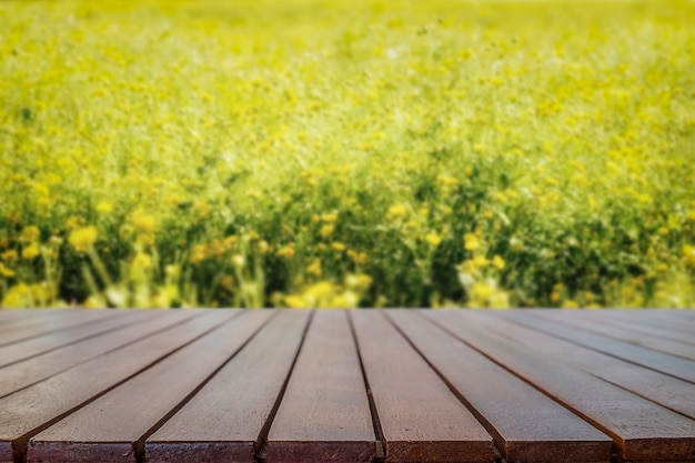 Wood texture with nature background