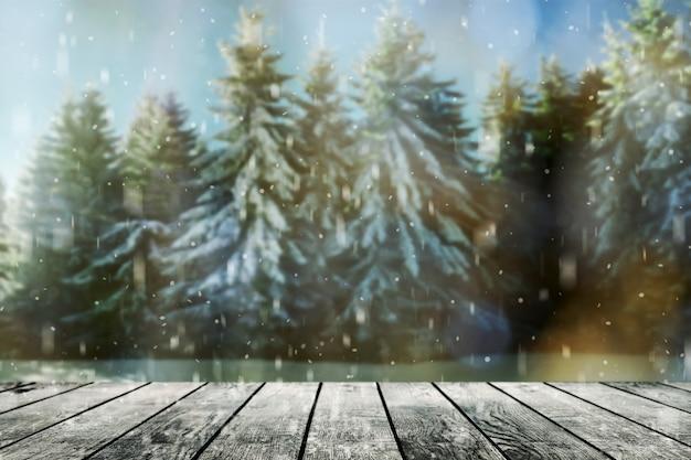 숲 겨울 배경에 방 인테리어에 나무 질감 배경