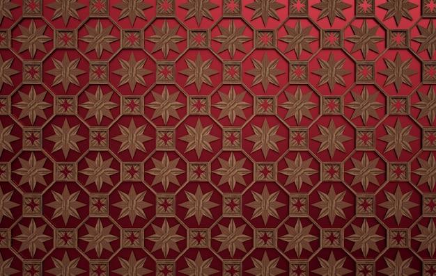 Wood and velvet. beautiful ornamental wood lattice. exotic geometric.