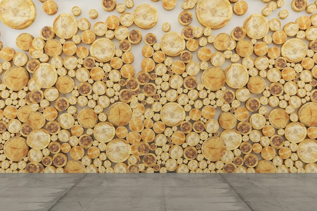 木の壁テクスチャ背景コンクリートの床