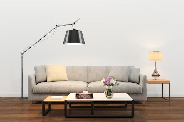 木製の壁のテクスチャ背景の木製の床のソファーのリビングルーム